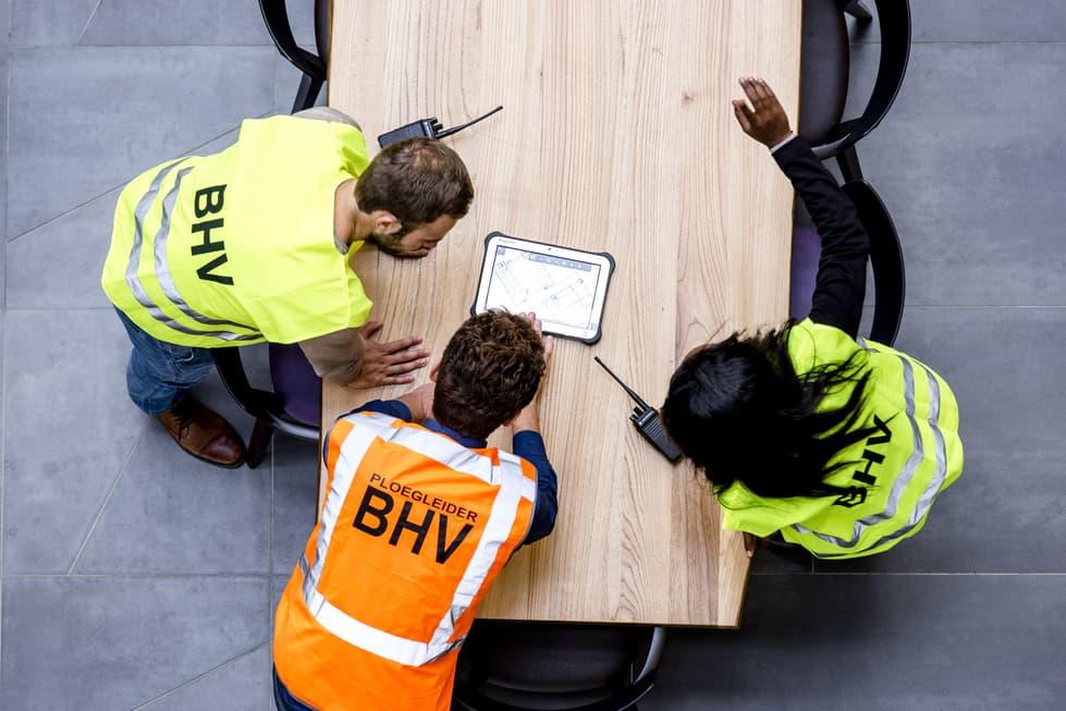 overleg BHV team bedrijfsveiligheid